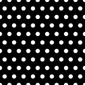 foto of dot pattern  - White polka dots illustration on black background - JPG