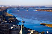 stock photo of memphis tennessee  - Mississippi River in downtown of Memphis Tennessee - JPG