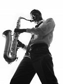 Handsome Man Playing The Saxophone