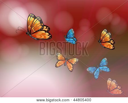 Illustration of a paper with butterflies