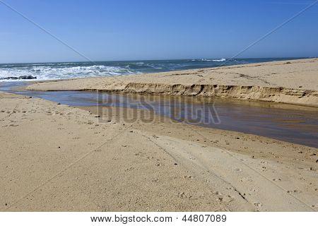 Beach near Oporto, in the north of Portugal