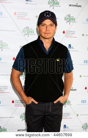LOS ANGELES - APR 15:  Scott Wolf at the Jack Wagner Celebrity Golf Tournament benefitting the Leukemia & Lymphoma Society at the Lakeside Golf Club on April 15, 2013 in Toluca Lake, CA