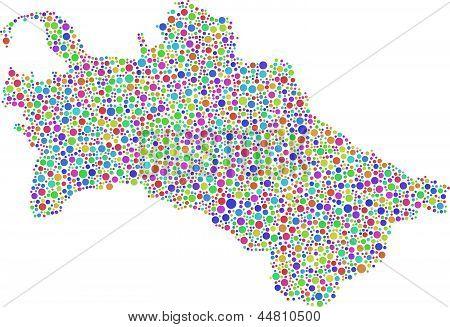 Map of Turkmenistan - Asia -