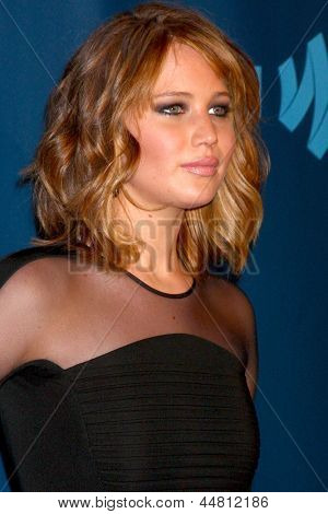 LOS ANGELES - APR 20:  Jennifer Lawrence arrives at the 2013 GLAAD Media Awards at the JW Marriott on April 20, 2013 in Los Angeles, CA