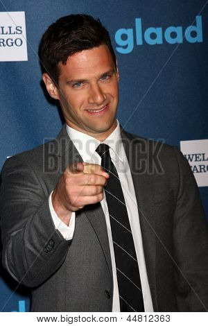 LOS ANGELES - APR 20:  Justin Bartha arrives at the 2013 GLAAD Media Awards at the JW Marriott on April 20, 2013 in Los Angeles, CA
