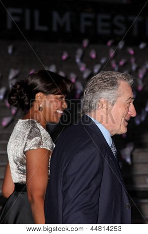 NEW YORK, NY - APRIL 16: Robert De Niro and Grace Hightower attend Vanity Fair Party for the 2013 Tribeca Film Festival on April 16, 2013 in New York City