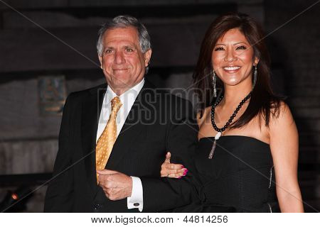 NEW YORK, NY - APRIL 16: TV personality Julie Chen and Leslie Moonves attend Vanity Fair Party for the 2013 Tribeca Film Festival on April 16, 2013 in New York City.