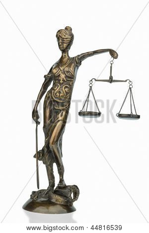 sculpture of justitia, symbolic photo for equity and justice