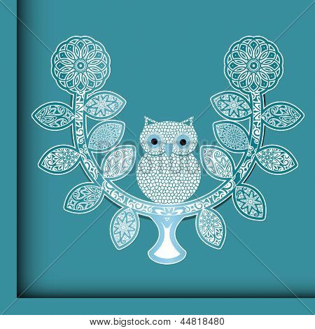 Charming owl on a perch