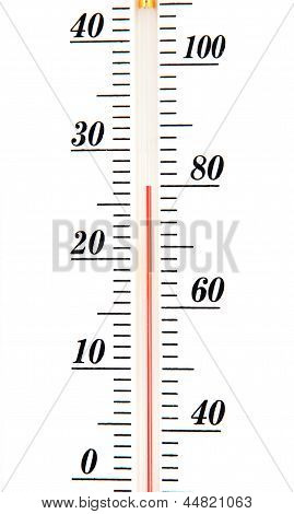Atmospheric Thermometer Scale Isolated On White Background