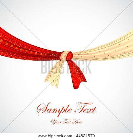 illustration of Hindu wedding knot tied with man and woman dress