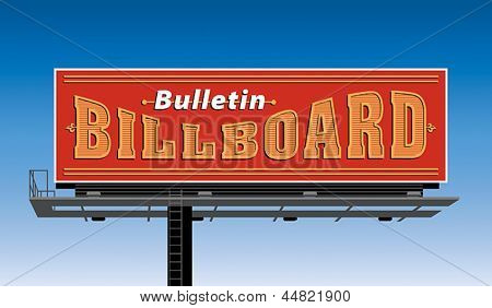 Bulletin billboard construction. Vector format EPS 8, CMYK.