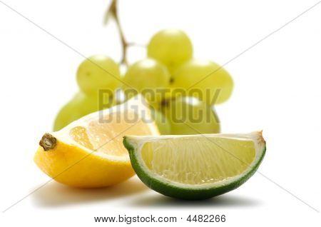 Lemon, Lime, Grape.