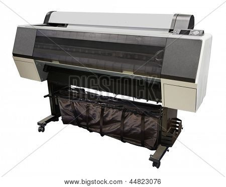 Digital printing machine under the white background