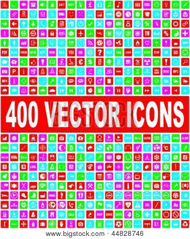 colorful vector icons set