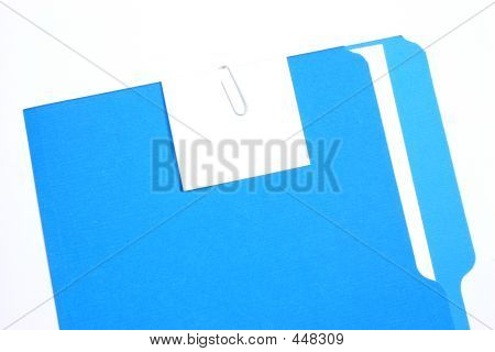 Blue Folder With An Empty Tag
