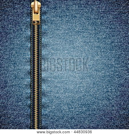 Denim texture with closed zipper - raster version