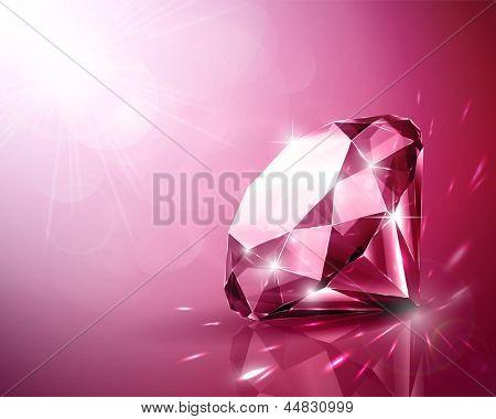 Shimmering ruby background - raster version