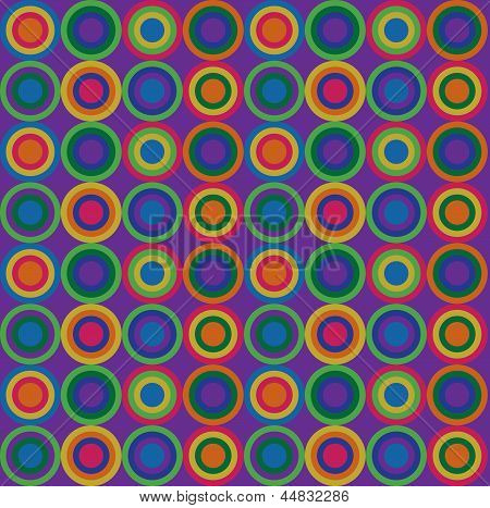 Warm retro circular pattern