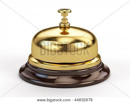 Reception bell isolated on white