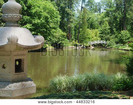 Pond and pagoda