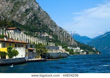 Limone on the shore of Lake Garda