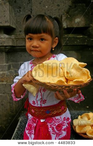 Girl Carrying Prawn Crackers