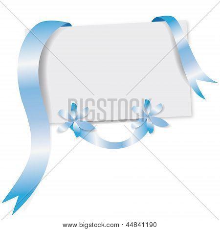 Biglietto Di Auguri Azzurro   Blue Greeting Card