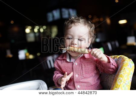 Boy Eating Kebab