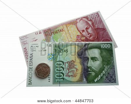 The Spanish pesetas
