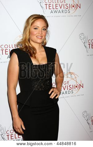 LOS ANGELES - APR 25:  Erika Christensen arrives at the 2013 College Television Awards at the JW Marriott on April 25, 2013 in Los Angeles, CA