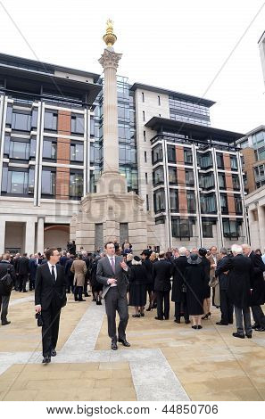 Guests Arrive To Attend The Funeral Of Margret Thatcher Outside Londons St Pauls 17Th April 2013