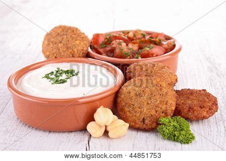 falafel and dips