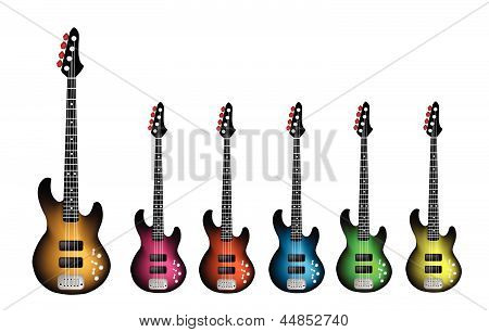 Beautiful Heavy Metal Electric Guitar on White Background