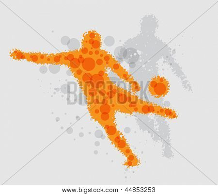 Soccer football player - vector illustration