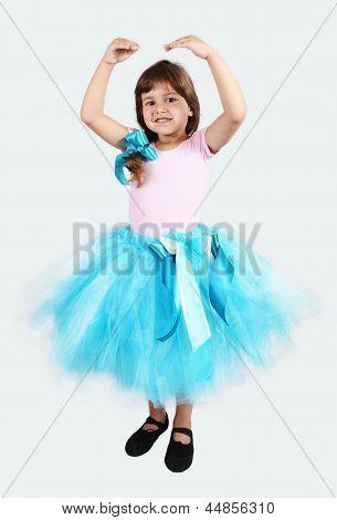Smiling Girl Performing In Tutu Skirt
