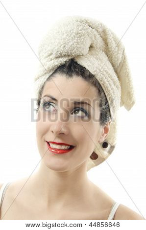 Portrait Of Girl With Towel.