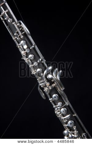 Oboe Isolated On Black