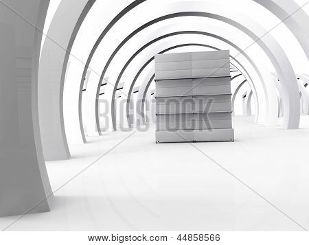 3D Stand For Exhibit In The Grey Interior