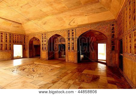 Agra red fort sha Jahan living room