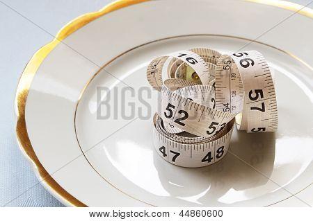 White Centimeter On White Chinaware