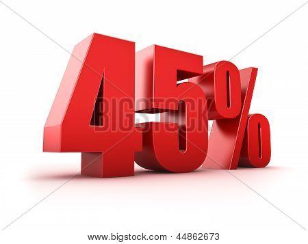 45 Por cento