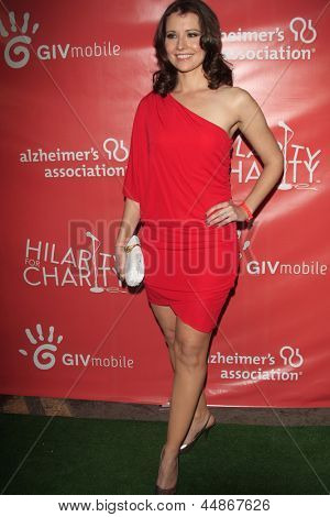 LOS ANGELES - APR 25:  Vanessa Britting arrives at the Second Annual Hilarity For Charity benefiting The Alzheimer's Association  at the Avalon  on April 25, 2013 in Los Angeles, CA