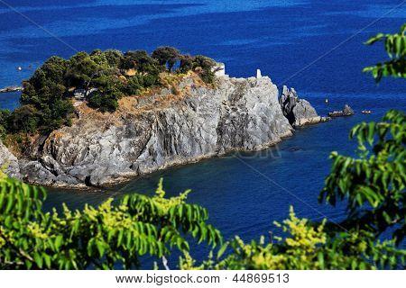 Ligurian coast at Monterosso al Mare, Cinque Terre, Italy