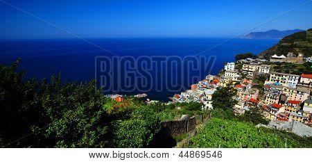 Riomaggiore Village panorama, Cinque Terre, Italy