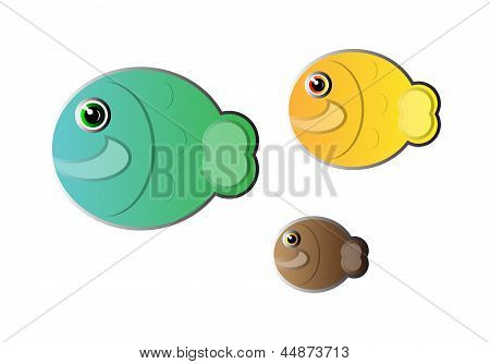 Vector Abstract Fishes