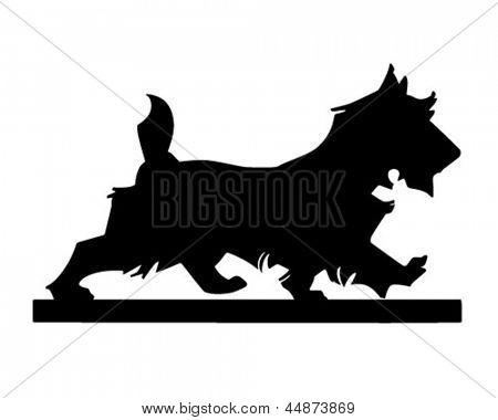 Scottie Dog Silhouette - Retro Clip Art Illustration