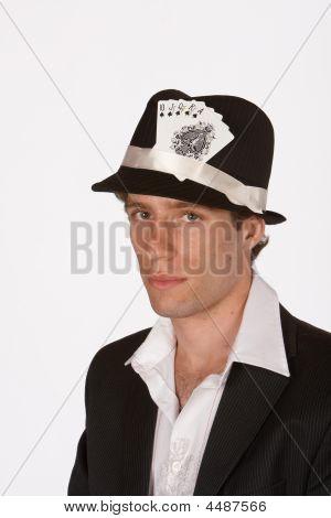 Portrait Of Poker Player