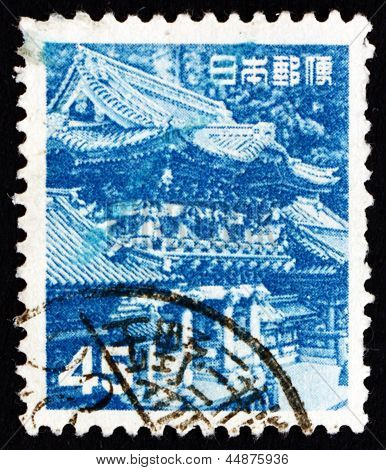 Postage Stamp Japan 1952 Yomei Gate, Nikko City