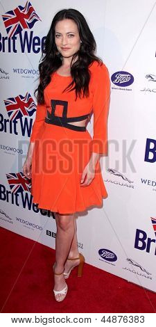 LOS ANGELES - APR 23:  Lara Pulver arrives at the 7th Annual BritWeek Festival